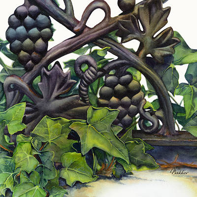 English Ivy Painting - Clamoring At The Gate by Debbie Bakker