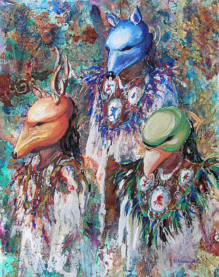 Painting - Clan Dancers by Li Newton