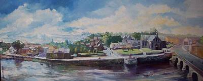 Art Print featuring the painting Clancy Strand-limerick-ireland by Paul Weerasekera