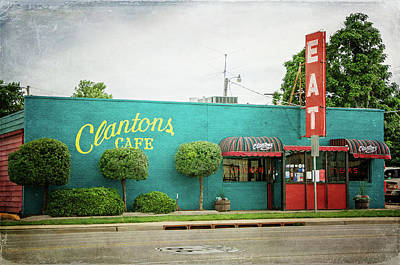 Photograph - Clanton's Cafe by Susan McMenamin
