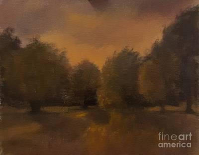 Painting - Clapham Common At Dusk by Genevieve Brown