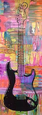 Mixed Media - Clapton Blackie Strat by Dean Russo