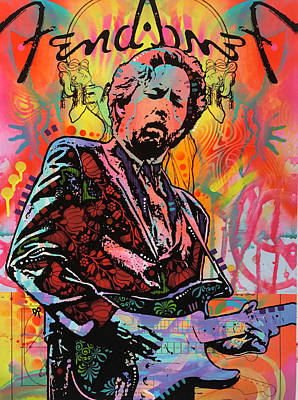 Eric Clapton Wall Art - Painting - Clapton Fend by Dean Russo Art