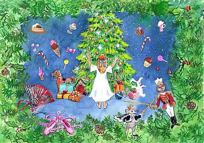 Painting - Clara And The Nutcracker Tree by Kathleen  Gwinnett