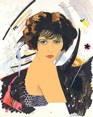 Mixed Media - Clara Bow 1 by John Keaton