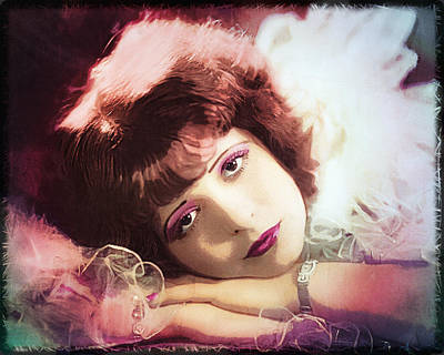 Digital Art - Clara Bow - Colors by Darlanne