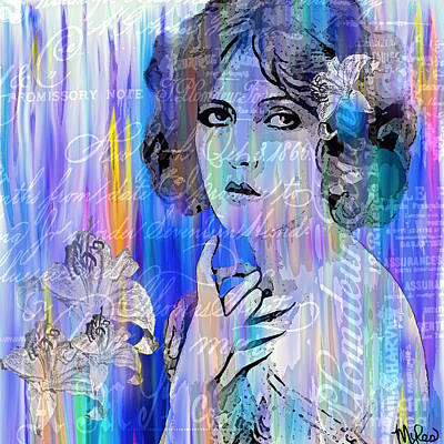 Painting - Clara Bow I'll See You In New York by Saundra Myles