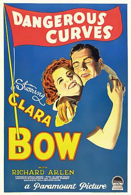 Dangerous Mixed Media - Clara Bow In Dangerous Curves 1929 by Mountain Dreams