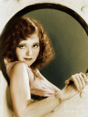 Musicians Royalty Free Images - Clara Bow, Vintage Actress Royalty-Free Image by Mary Bassett
