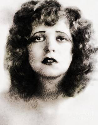 Musicians Royalty Free Images - Clara Bow, Vintage Hollywood Legend Royalty-Free Image by John Springfield