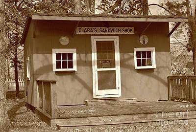 Blythewood Photograph - Clara's Sandwich Shop by Skip Willits
