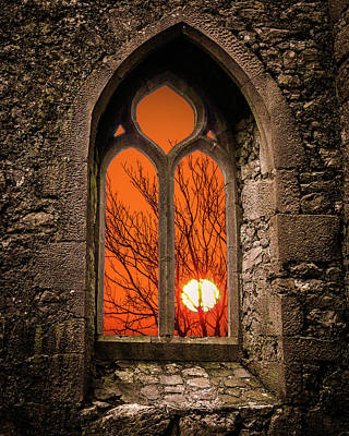 Photograph - Clare Abbey Sunrise by James Truett
