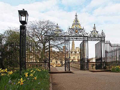Photograph - Clare College Gate Cambridge by Gill Billington