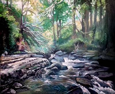 Painting - Clare Glens ,co Tipparay Ireland by Paul Weerasekera