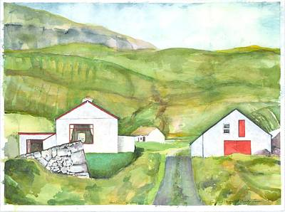 Painting - Clare Island Buildings by Kathleen Barnes
