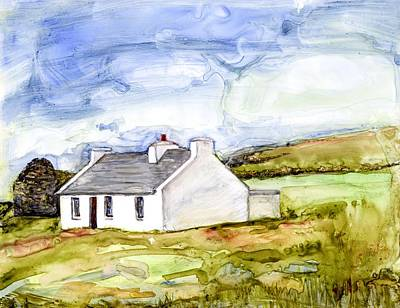 Painting - Clare Island Cottage Watercolor by Kathleen Barnes