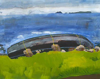 Painting - Clare Island Currach by Kathleen Barnes
