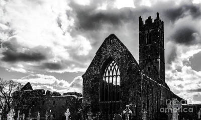 Photograph - Claregalway Friary by Lexa Harpell