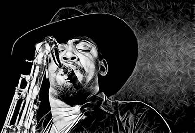 Clarence Clemons Collection Art Print
