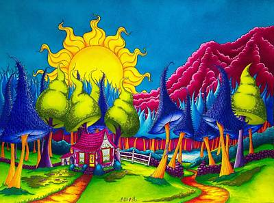Clare's Cottage Original by Denyse Dar