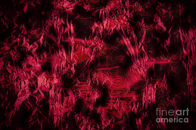 Western Art - Claret stained texture abstract by Arletta Cwalina