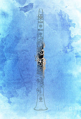 Cabaret Digital Art - Clarinet 21 Jazz B by Pablo Franchi