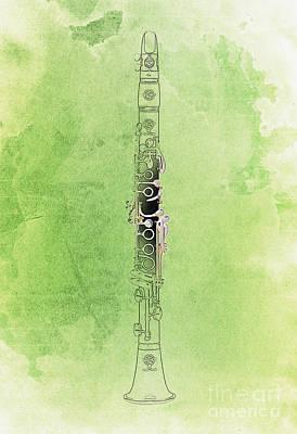 Clarinet 21 Jazz G Art Print