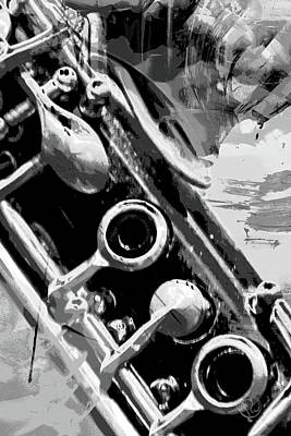 Photograph - Clarinet Keys B/w by Pamela Williams