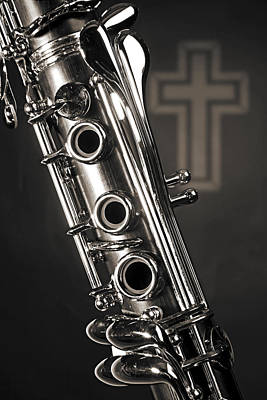 Photograph - Clarinet Music Instrument With A Cross 3521.01 by M K Miller
