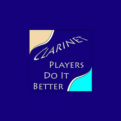 Photograph - Clarinet Players Do It Better 5641.02 by M K Miller