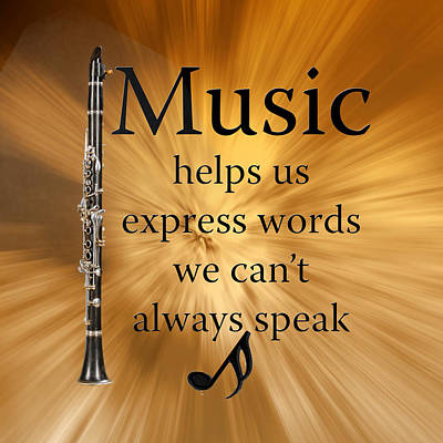 Clarinet Digital Art - Clarinets Expresses Words by M K  Miller