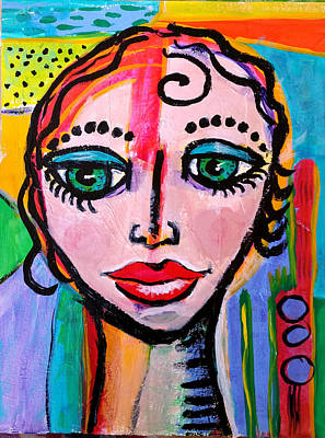 Painting - Clarissa - Vivid Vixen 3 by Jenny Mead