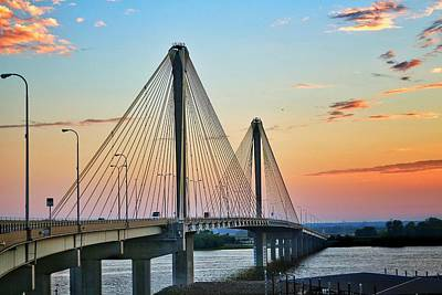 Coy Fish Michael Creese Paintings - Clark Bridge at Sunup  by Buck Buchanan