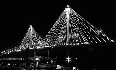 Photograph - Clark Bridge Night by David Coblitz