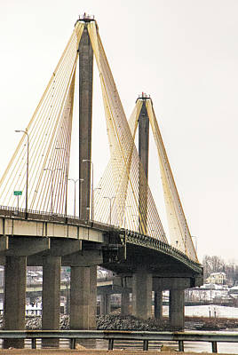 Photograph - Clark Bridge Over The Mississippi River by Phyllis Taylor