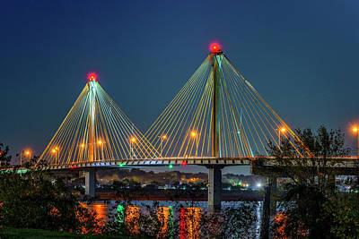 Photograph - Clark Bridge To Alton Il-7r2_dsc2483_16-11-13 by Greg Kluempers
