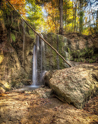 Photograph - Clark Creek Nature Area Waterfall No. 1 by Andy Crawford