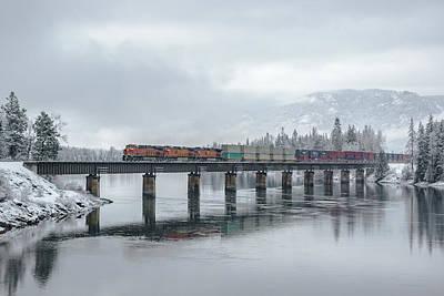 Photograph - Clark Fork Crossing In Winter by Albert Seger