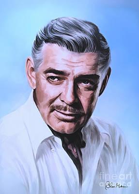 Painting -  Clark Gable 2 by Andrzej Szczerski