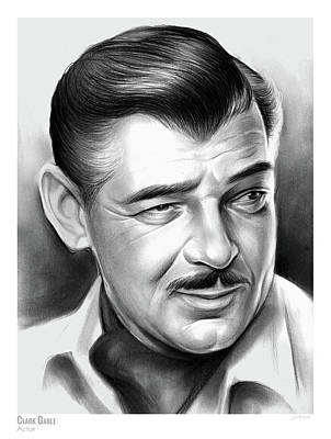Drawings Rights Managed Images - Clark Gable 26AUG17 Royalty-Free Image by Greg Joens