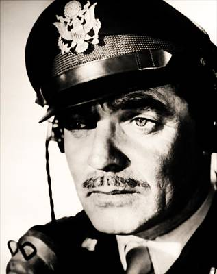 Photograph - Clark Gable Hollywood Sex Symbol In The Movie Command Decision by R Muirhead Art