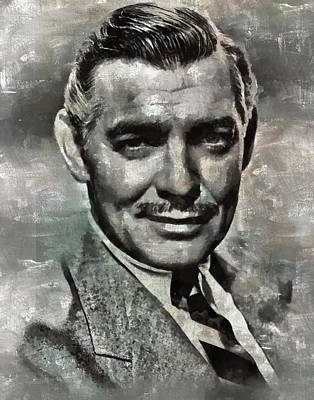 Celebrities Royalty-Free and Rights-Managed Images - Clark Gable by Esoterica Art Agency