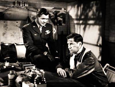 Photograph - Clark Gable Hollywood Heart Throb In The Movie Command Decision by R Muirhead Art