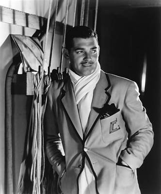 Photograph - Clark Gable Hollywood Movie Idol  by R Muirhead Art