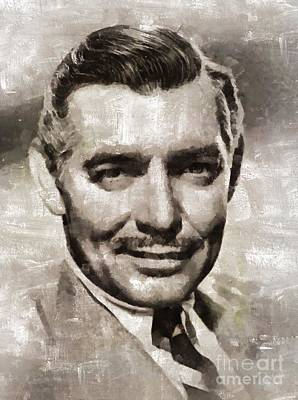 Musicians Royalty Free Images - Clark Gable, Vintage Hollywood Actor Royalty-Free Image by Mary Bassett
