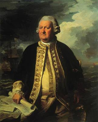 Painting - Clark Gayton Admiral Of The White 1779 by Copley John Singleton