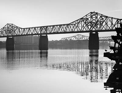 Indiana Landscapes Photograph - Clark Memorial Bridge I by Steven Ainsworth