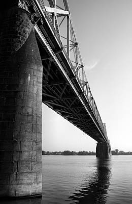Indiana Landscapes Photograph - Clark Memorial Bridge II by Steven Ainsworth