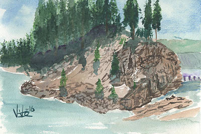 Painting - Clarkfork Combined by Victor Vosen