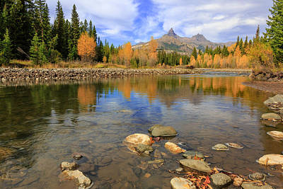 Photograph - Clarks Fork River Autumn by Jack Bell